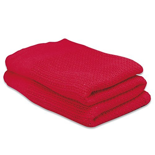 Steroplast Red Cotton Cellular First Aid Blanket 2100 x 1600mm