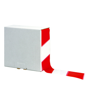 Tape - non adhesive barrier red/white 75mm x 500m