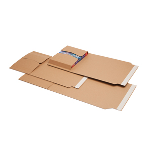 Envopac™ - 310 x 250 x 70mm folding corrugated pack 150KK E flute with extra tape, 2730/plt