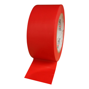 Tape - floor marking hazard red (packed 18 rolls/box)