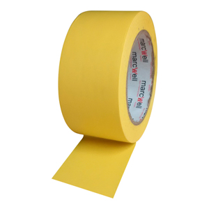 Tape - floor marking hazard yellow - 50mmx33m (packed 18 rolls/box)