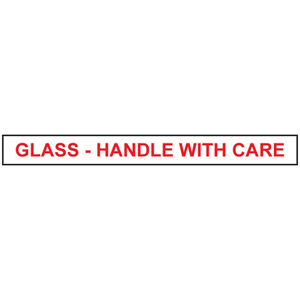 Tape - printed 'Glass handle with care' 48mm x 66m