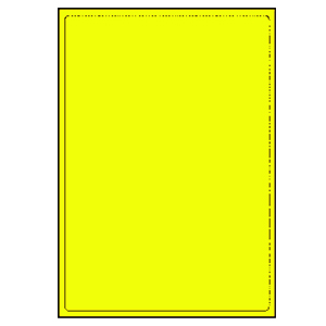 Labels - laser 1UP yellow (A4) Fluorescent