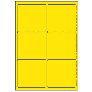 Labels - laser 6 UP yellow