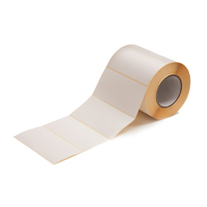 Labels - 87 x 35mm thermal transfer WEL white 76mm core perf 5000 per roll, Semi-gloss