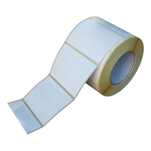Labels - white direct thermal 101 x 76mm OSW 76mm core perfed in gaps  1000/roll, 15/box