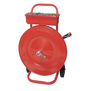 Dispenser - Trolley for oscillation wound steel strapping
