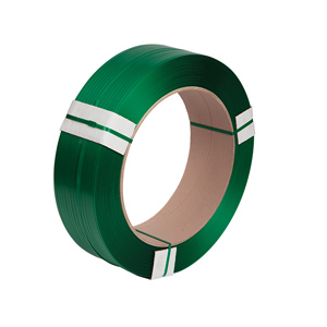 Strapping - polyester 15.5 x 0.70mm x 1500m green embossed  48/pallet