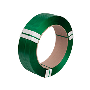Strapping - polyester 15.5 x 0.70mm x 1750m green embossed  48/pallet