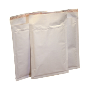 rapilite™ bubble-lined mailers - white 350 x 470mm, K/7 100/box, 18 boxes/plt