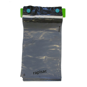 rapisac mailer - 200 x 300mm + 40mm perm seal 45mu grey/black virgin Co-Ex packed 1000/box