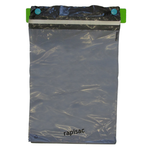 rapisac mailer - 300 x 400mm + 40mm perm seal 45mu grey/black virgin Co-Ex packed 500/box
