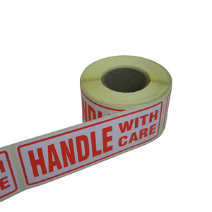 Labels - 'Handle with care' 148 x 50mm
