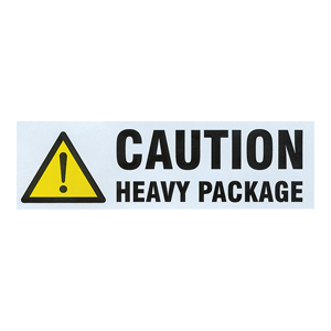 Labels - 148 x 50mm 'Caution Heavy Package'