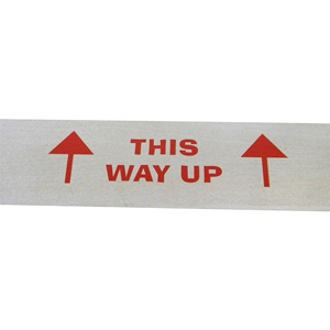 Labels - 'This way up' with arrows 148 x 50mm