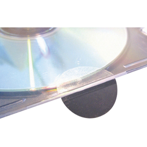 Labels - Clear, round self adhesive 38mm Permanent