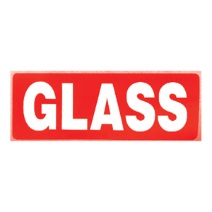 Labels - 'Glass' 89 x 32mm