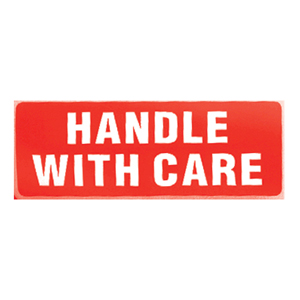 Labels - 'Handle with care' 89 x 32mm