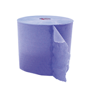 Wiper Roll - 2 ply blue 370mm x 400m 76mm core 1095 sh/roll 12/layer  60/plt