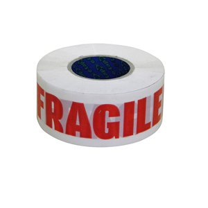 e-tape™ 1 Gold - 48mm x 150m printed 'Fragile'