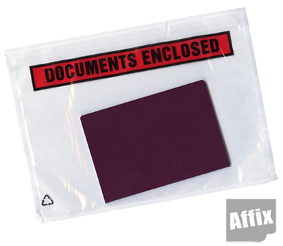 Affix™ Documents enclosed envelopes